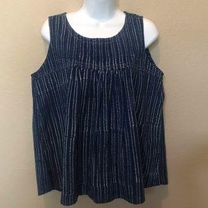 Mata traders blue sleeveless top shirt medium